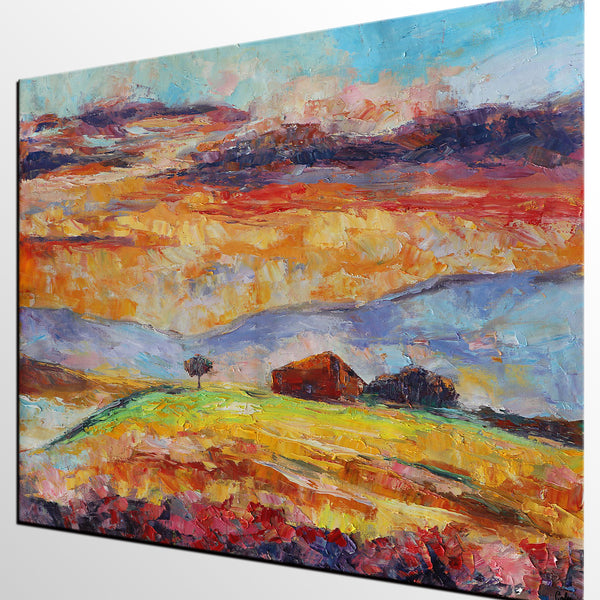 Mountain Landscape Painting, Canvas Wall Art, Original Artwork, Canvas Painting - artworkcanvas