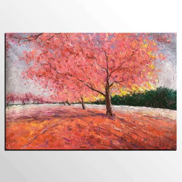 Landscape Painting, Autumn Tree Art, Original Painting for Sale, Canvas Art, Original Artwork - artworkcanvas