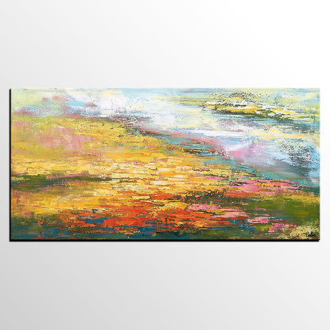 Abstract Landscape Painting, Abstract Painting for Sale, Custom Large Artwork, Acrylic Painting - artworkcanvas