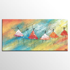 Ballet Dancer Painting, Abstract Art, Original Artwork, Canvas Painting, Custom Canvas Artwork - artworkcanvas