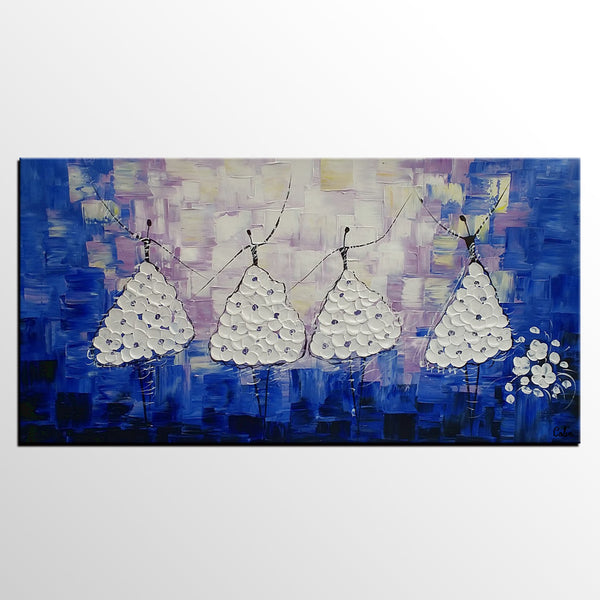 Acrylic Painting, Ballet Dancer Painting, Abstract Painting, Bedroom Canvas Art, Canvas Painting