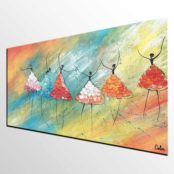 Ballet Dancer Painting, Abstract Art, Original Artwork, Canvas Painting, Wall Art, Canvas Art, Wall Art, Abstract Painting, 465