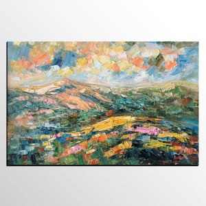 Landscape Oil Painting, Abstract Autumn Mountain Painting, Canvas Painting for Sale - artworkcanvas