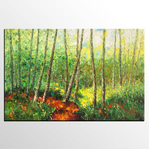 Canvas Art, Home Art, Spring Tree Painting, Wall Art, Abstract Artwork, Original Canvas Painting - artworkcanvas