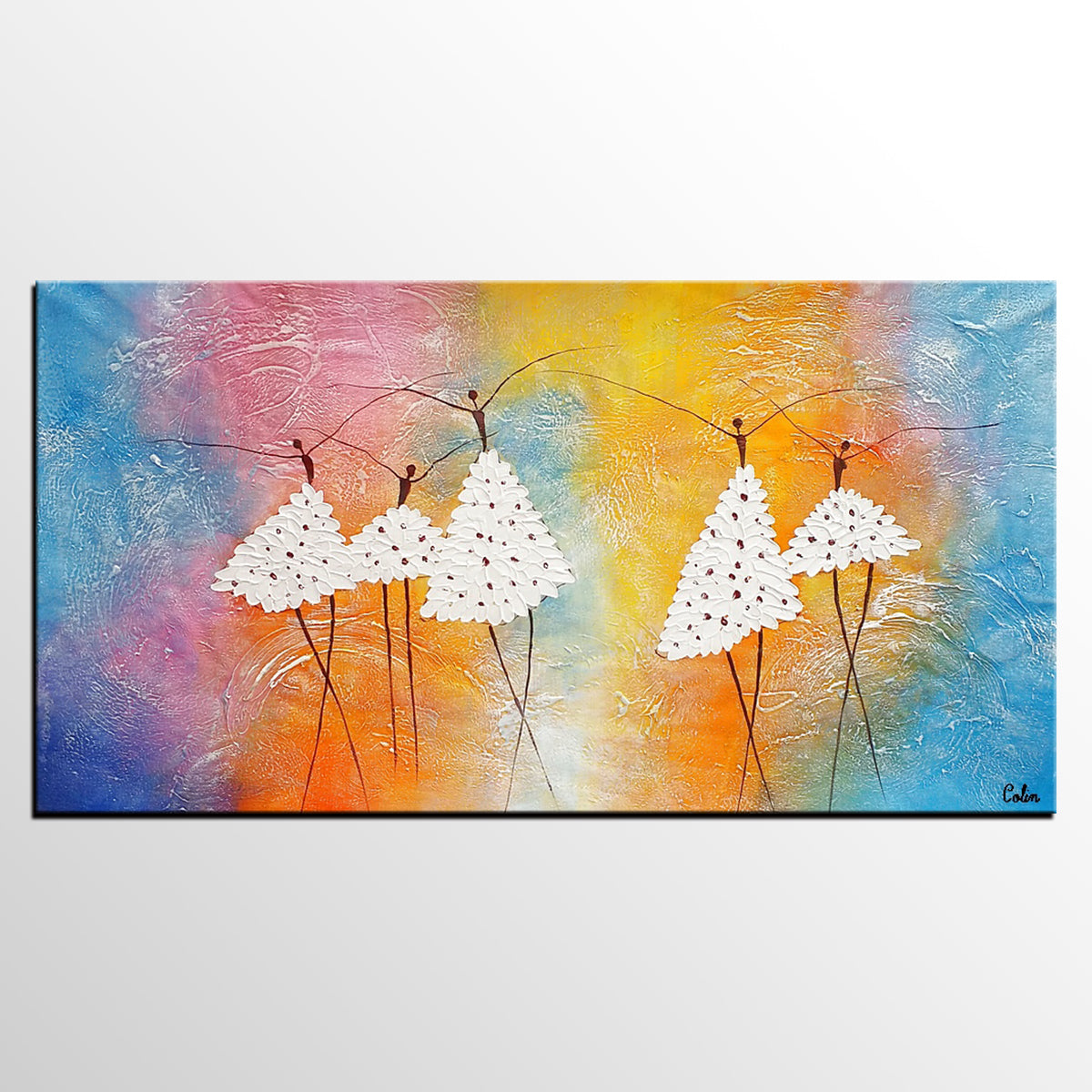 Abstract painting canvas painting ballet dancer painting acrylic art painting bedroom canvas art