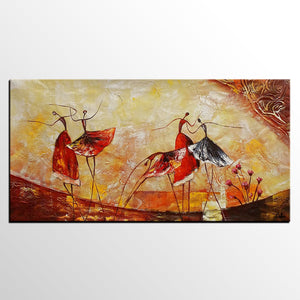 Abstract Painting, Original Wall Art, Ballet Dancer Painting, Canvas Art, Dining Room Wall Art, Buy Art Online - artworkcanvas