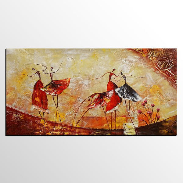Abstract Painting, Original Wall Art, Ballet Dancer Painting, Canvas Art, Dining Room Wall Art, Buy Art Online