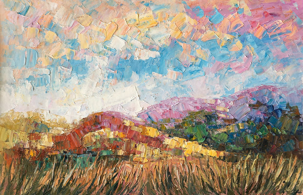 Heavy Texture Oil Painting, Mountain Landscape Painting, Original Painting, Large Artwork, Canvas Art, Wall Art, Original Artwork - artworkcanvas