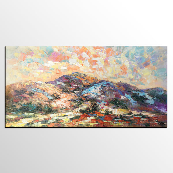 Oil Painting for Sale, Original Art Painting, Abstract Mountain Landscape Painting - artworkcanvas