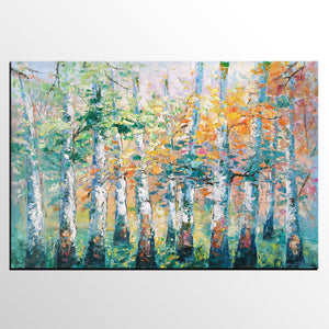 Forest Tree Painting, Abstract Art, Bedroom Wall Art, Art Painting, Original Painting, Contemporary Art, Abstract Wall Art