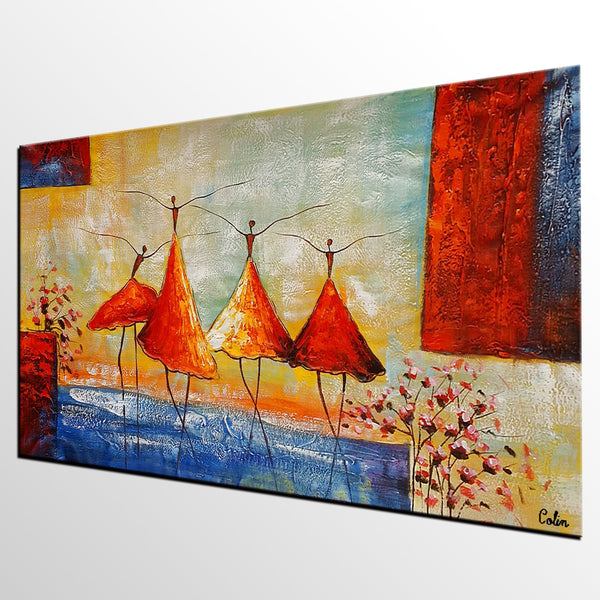 Abstract Painting, Ballet Dancer Painting, Acrylic Painting, Bedroom Canvas Art, Canvas Painting - artworkcanvas