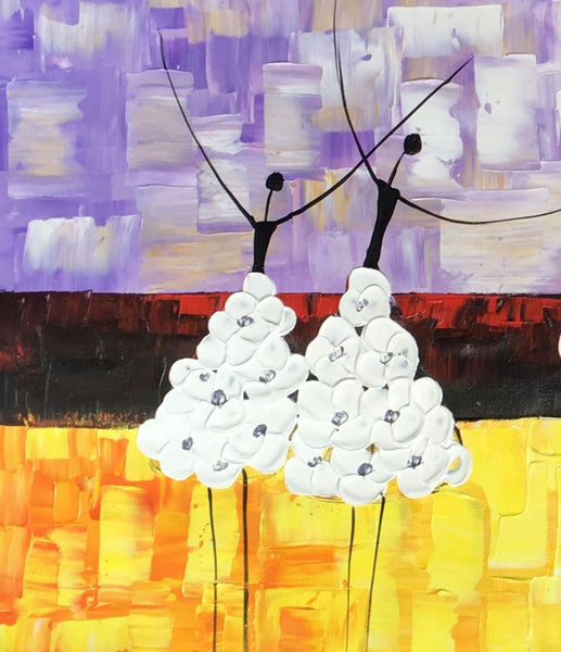 Canvas Painting, Ballet Dancer Painting, Canvas Art, Original Artwork - artworkcanvas