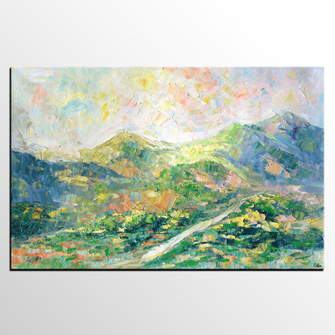 Abstract Painting, Oil Painting, Original Wall Art, Landscape Painting, Large Art, Canvas Art, Wall Art, Canvas Painting, Mountain Painting - artworkcanvas