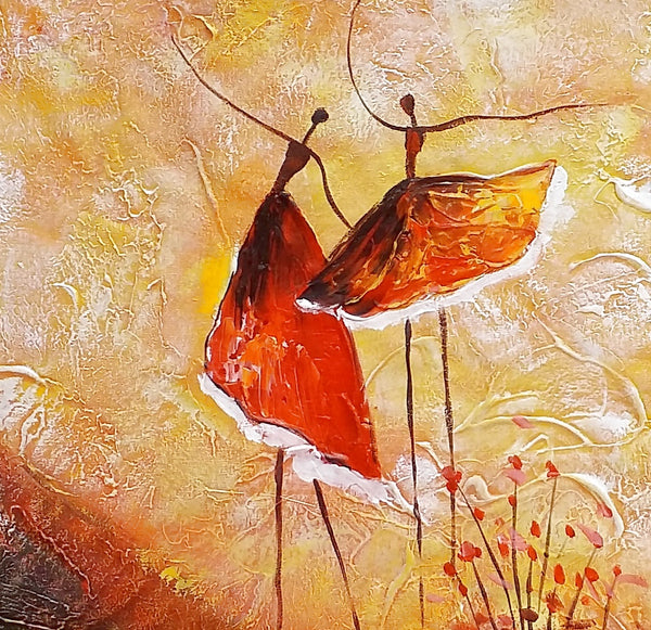 Ballet Dancer Painting, Bedroom Canvas Art, Canvas Painting, Modern Art, Original Painting