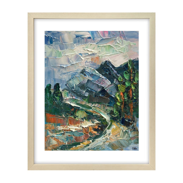 Canvas Painting, Small Oil Painting, Heavy Texture Oil Painting, Mountain Landscape Painting, 8X10 inch - artworkcanvas