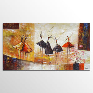 Abstract Painting, Ballet Dancer Painting, Abstract Art, Canvas Art, Canvas Painting, Heavy Texture Art - artworkcanvas