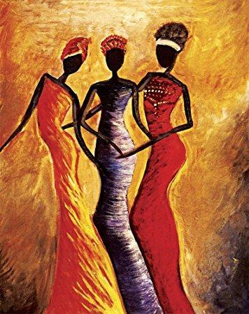 Canvas Painting, African Art, African Woman Painting, African Girl Painting, Modern Wall Art
