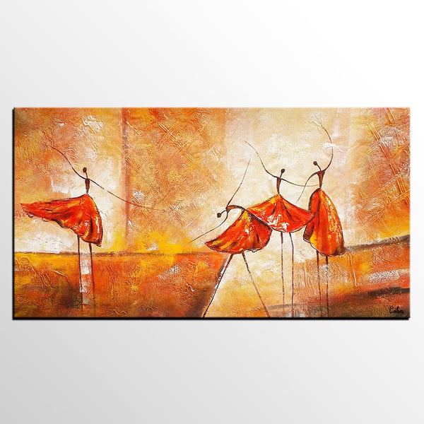 Original Wall Art, Canvas Art, Ballet Dancer Painting, Abstract Art, Canvas Painting, Modern Art - artworkcanvas