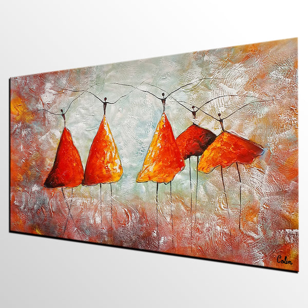 Large Painting, Ballet Dancer Painting, Abstract Art, Canvas Art, Wall Art, Canvas Painting, Heavy Texture Art, 479