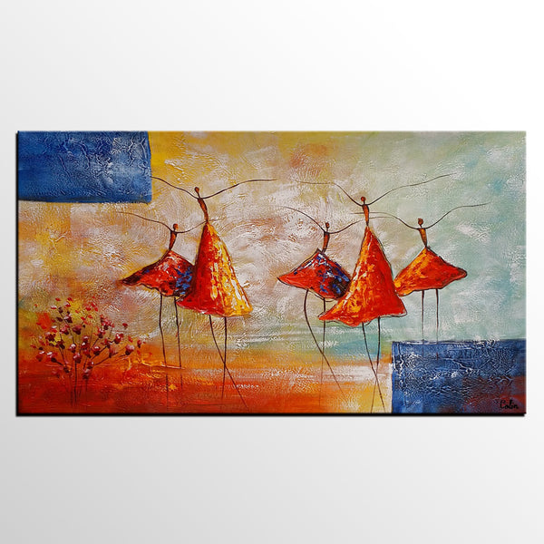 Acrylic Painting, Ballet Dancer Painting, Abstract Painting, Bedroom Canvas Art Painting - artworkcanvas