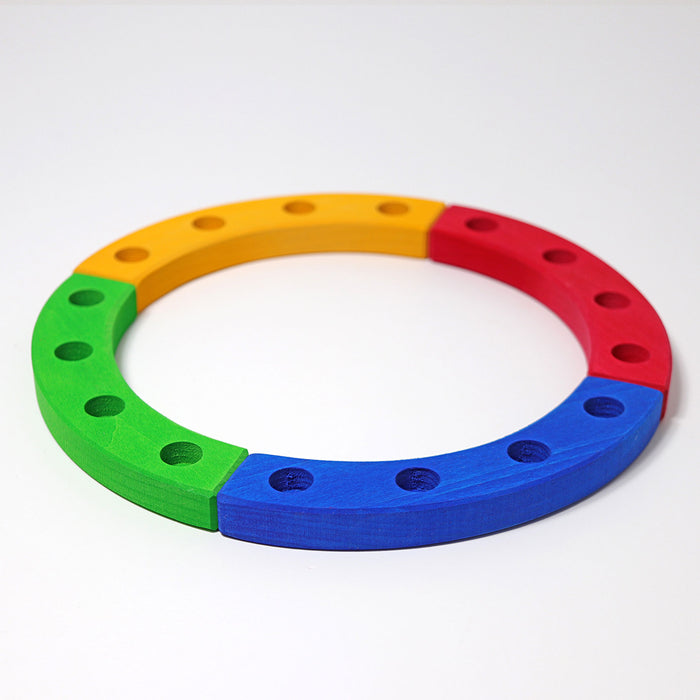 2180 Grimm's Coloured Birthday Ring 16 holes