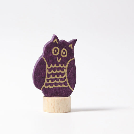 3304 Grimm's Owl Candle Holder Decoration