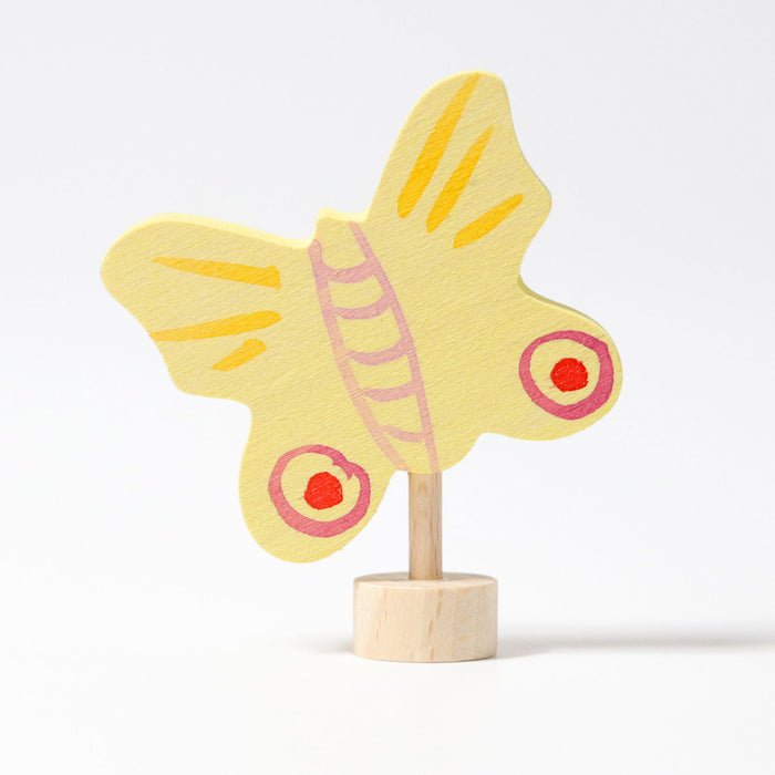 03313 Grimms  Yellow Butterfly Candle Holder Decoration