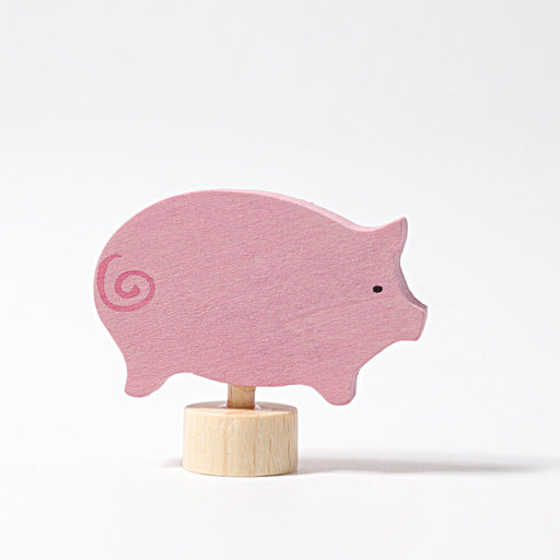 3316 Grimm's Pink Pig Candle Holder Decoration