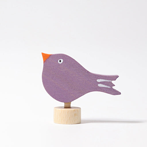 3532 Grimm's Sitting Bird Candle Holder Decoration