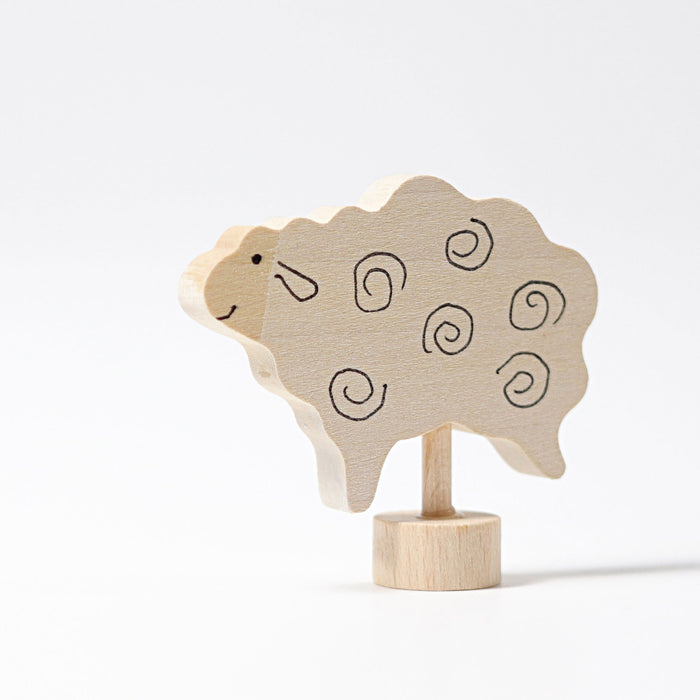 3541 Grimm's Sheep Standing Candle Holder Decoration