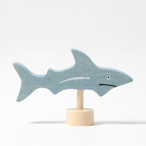 3545 Grimm's Shark Candle Holder Decoration