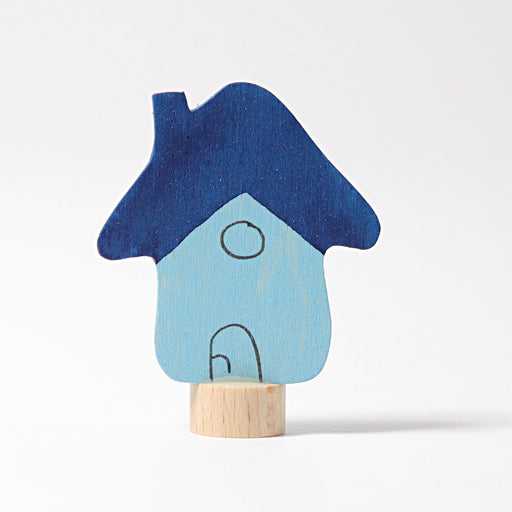 03570 Grimm's Blue House Candle Holder Decoration