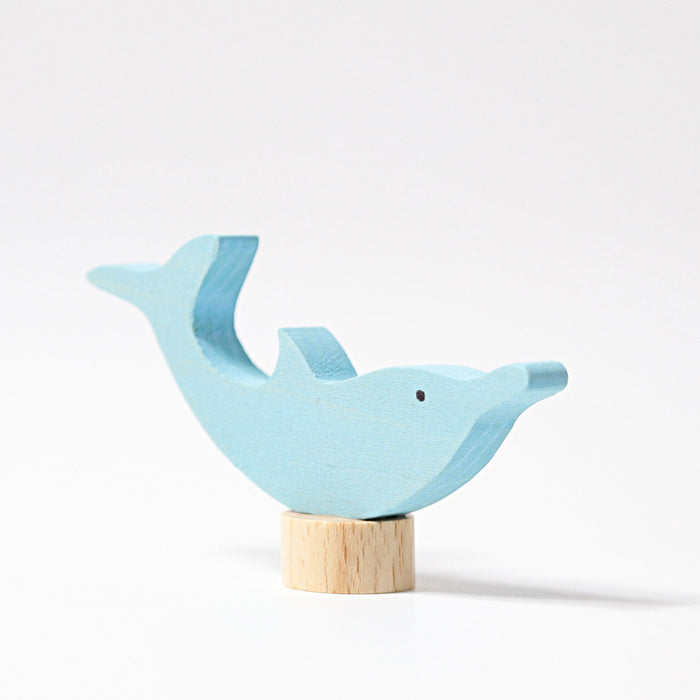 03720 Grimms Dolphin Candle Holder Decoration