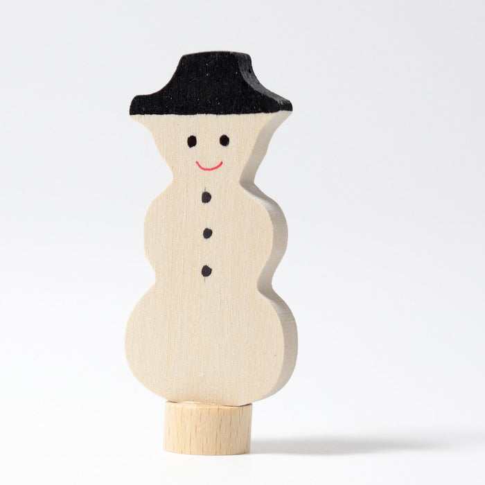 3920 Grimm's Snowman Candle Holder Decoration