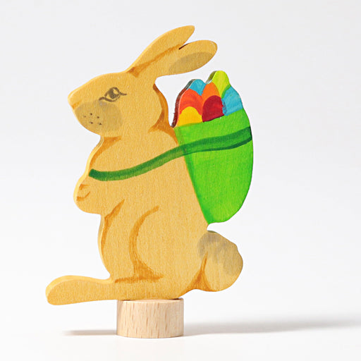 04231 Grimm's Decorative Figure Rabbit with Basket