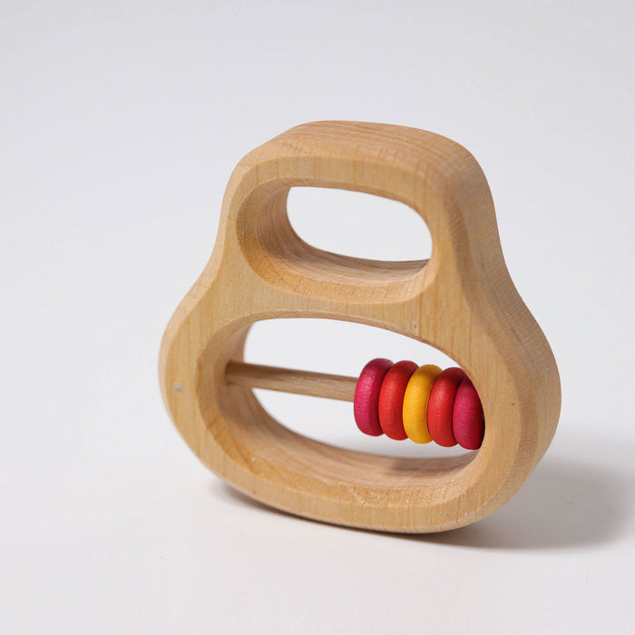 8130 Grimm's Grasping Toy Rattle with red rings