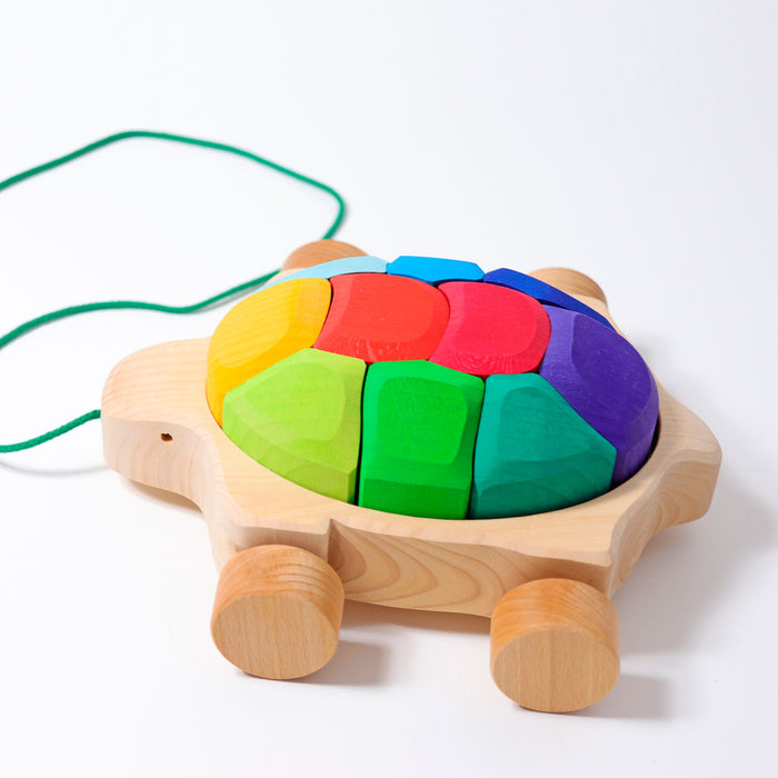 09011 Grimm's Rainbow Turtle to Pull Along