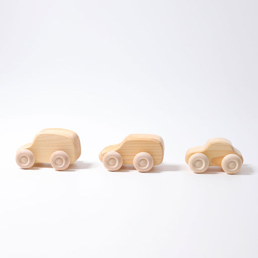 9300 Grimm's Natural Wooden Car Set 6 pieces