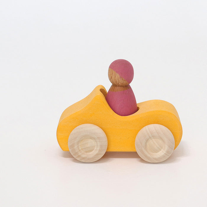 Grimm's Small Convertible Yellow Car New Item 2019