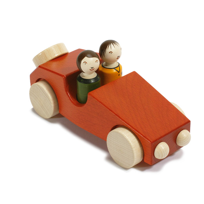 10010.1 Weizenkorn Wooden car with 2 passengers red