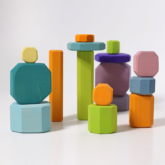 10045 Grimms Wooden Blocks - Color Tree Slices