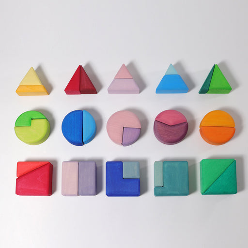 10160 Grimm's Triangle Square & Circle Geometric Shape Blocks