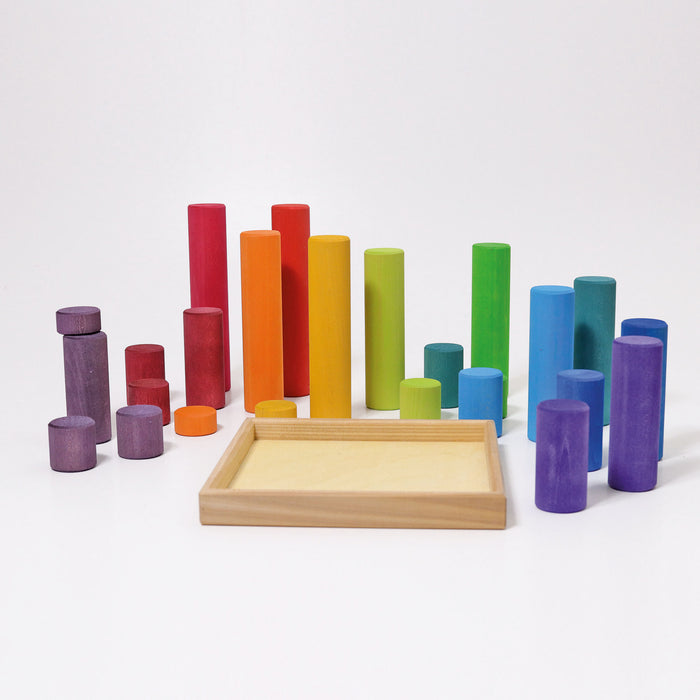 10173 Grimm's Large Building Rollers Rainbow