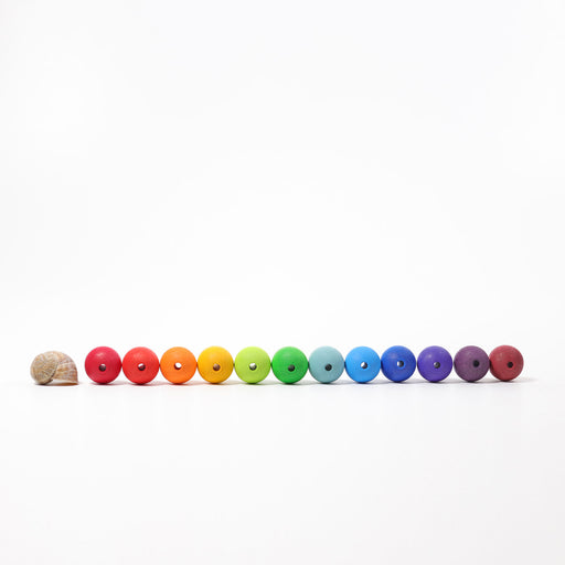 10240 Grimm's 36 Coloured Beads 30mm