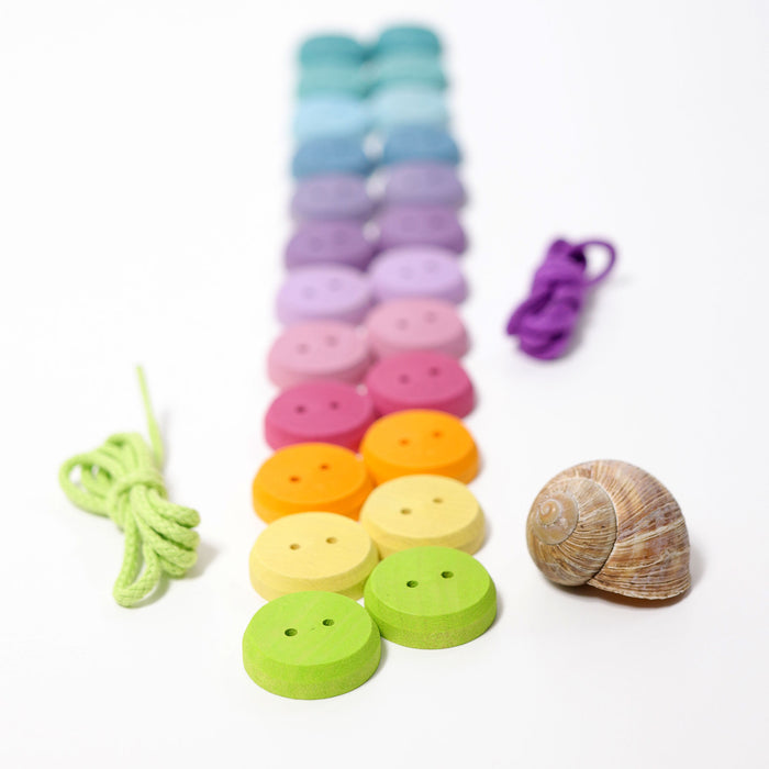 10318 Grimm's Pastel Threading Game Small Buttons
