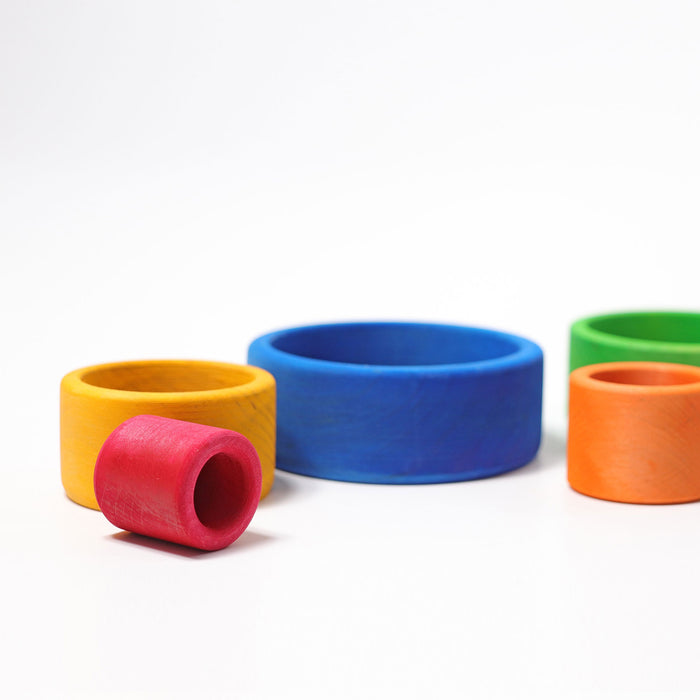 10350 Grimms Coloured Stacking Bowls outside blue