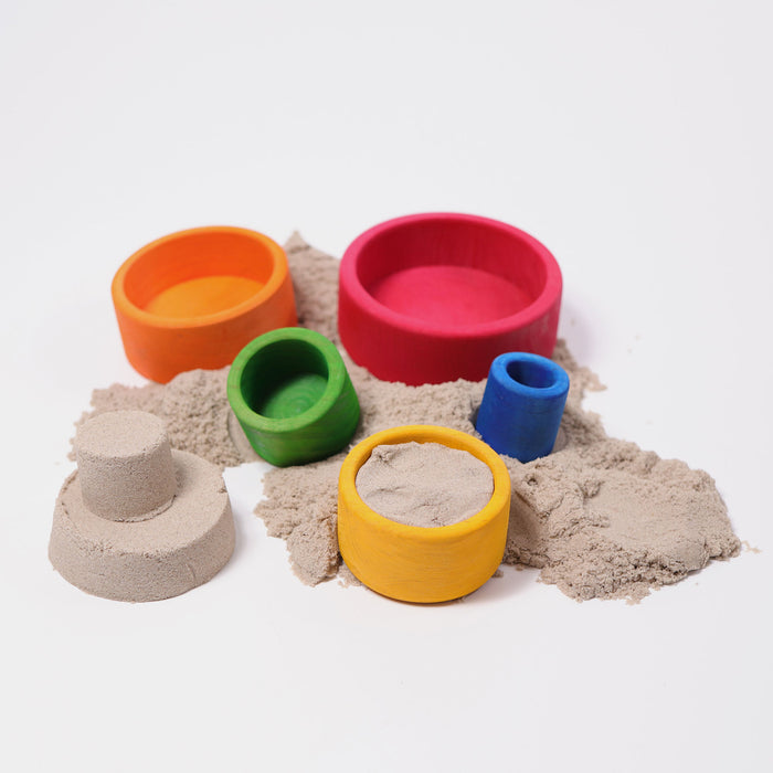 10351 Grimms Colored Stacking Bowls outside red