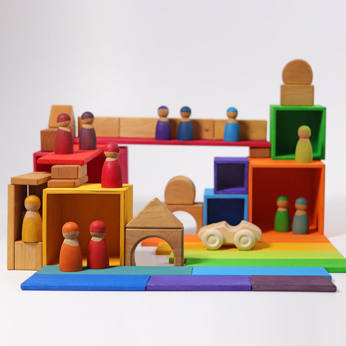 10370 Grimms Rainbow Stacking Boxes