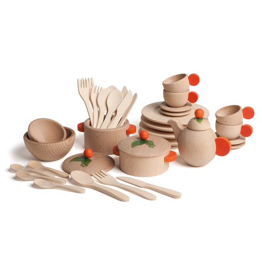 10677 Erzi Large Cookware Crockery Set Natural