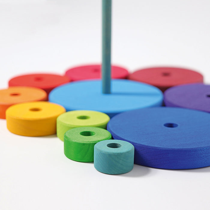 Grimm S Large Rainbow Conical Stacking Tower From Oskar S